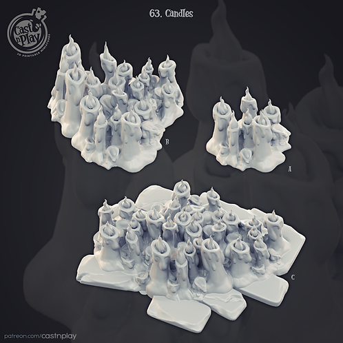 candle piles