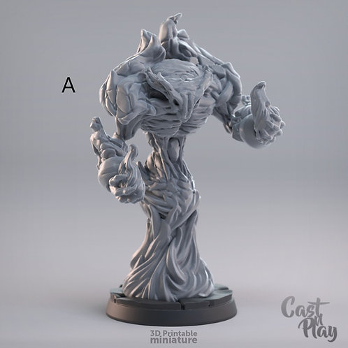 Fire elemental (2 poses, 3 sizes)