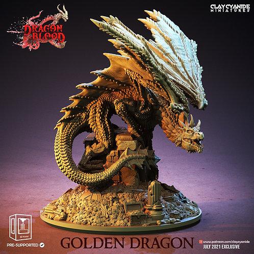 Gold Dragon on treasure pile