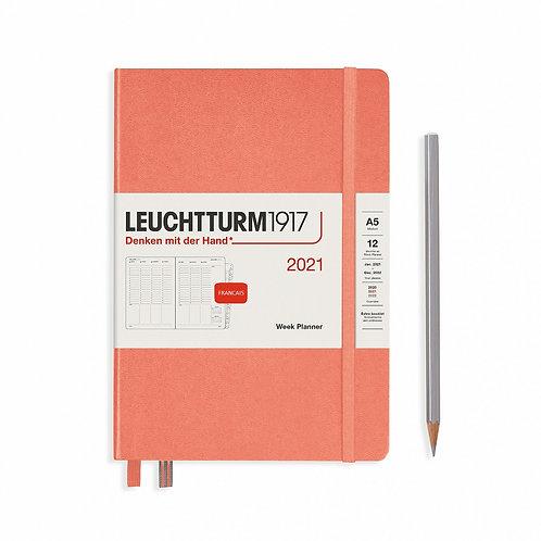 Agenda Leuchtturm A5 Planificateur Semainier 2021