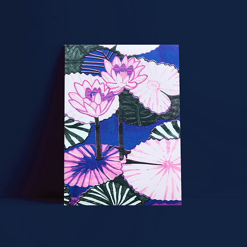 Affiche Risographie, Claire Colin, format A4