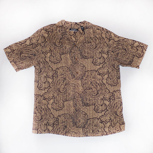 Vintage Silk Shirt (abstract/brown)