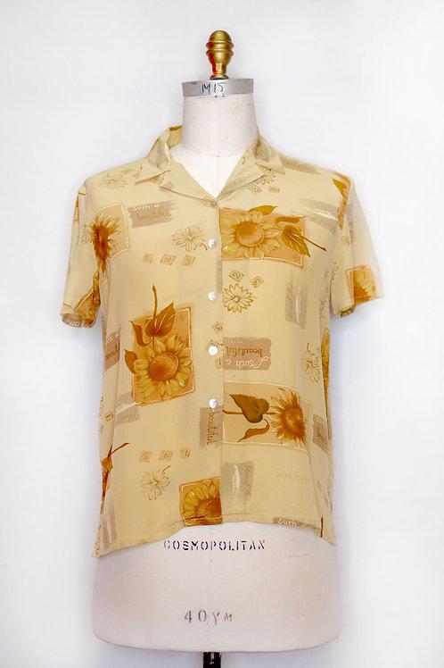 Sunflower Pattern Shirt (vintage)
