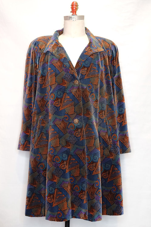 "Vintage Artistic Pattern Coat ""Picasso"""