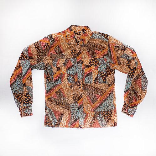 Silk Elaborate Print Shirt (vintage)