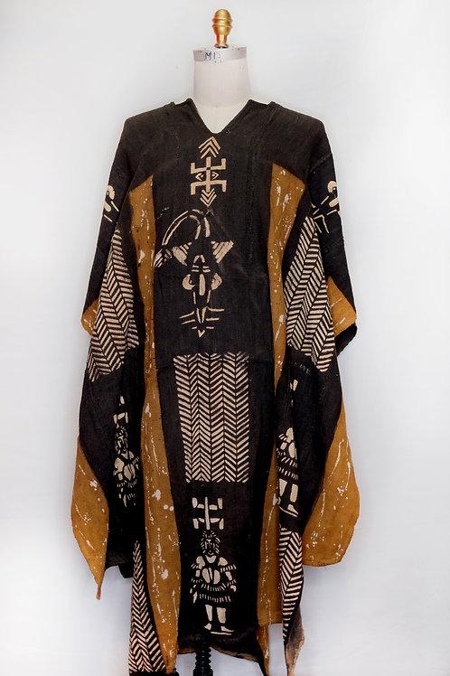Vintage Mud Cloth Poncho