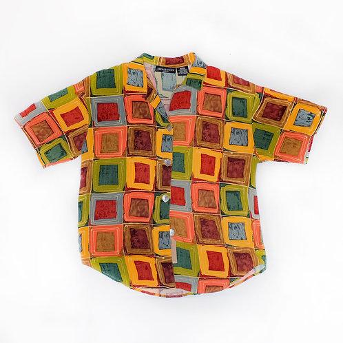 Vintage Abstract Print Shirt