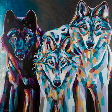 """Three Wolves"" 2016"