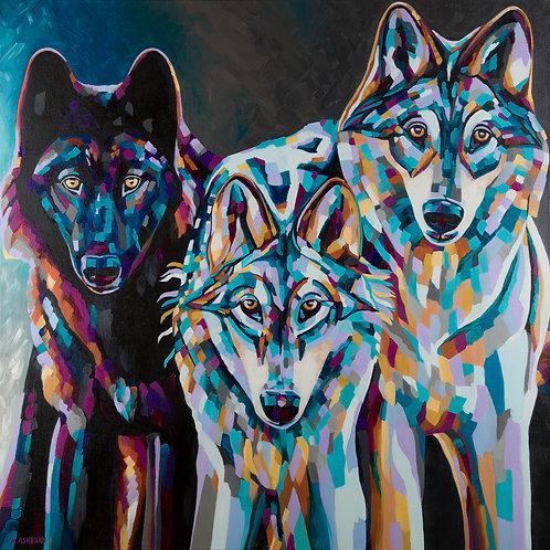 """Three Wolves"" Print"