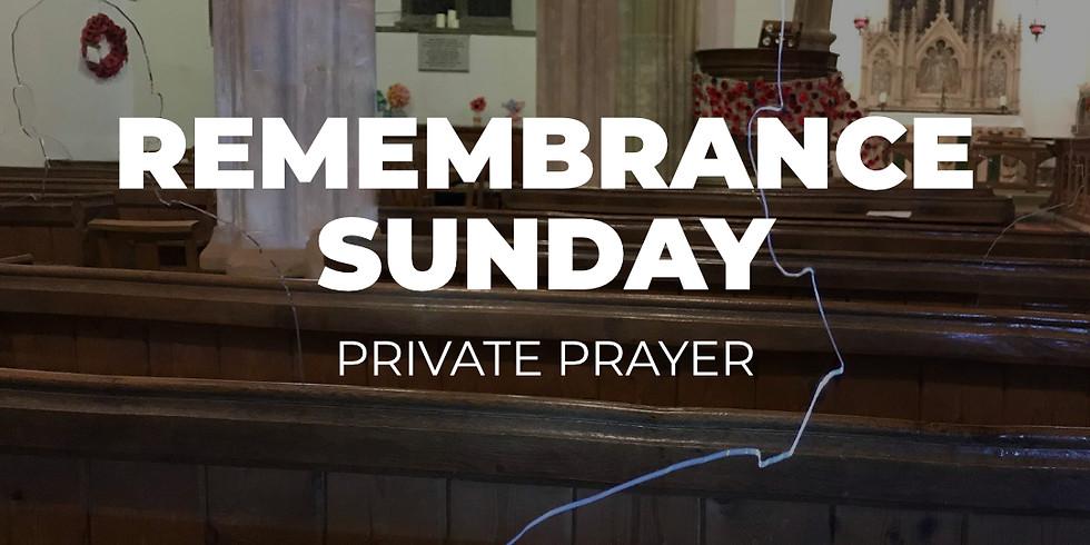 Remembrance Day Private Prayer