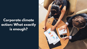 Corporate climate action: What exactly is enough?