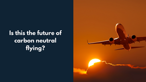 The future of carbon neutral flying?