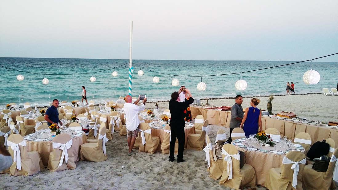 Cene sulla spiaggia