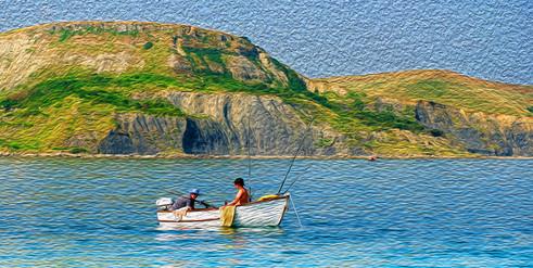 Fishermen off Houns Tout