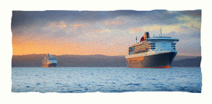 Cunard ships Queen Mary 2 and Queen Victoria