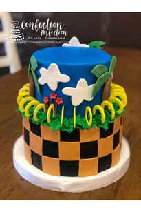 2 Tier Sonic Themed Cake CBB-174