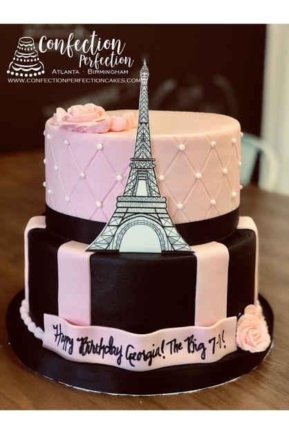 Paris Themed Eiffel Tower Cake CBG-120