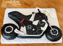 2D Motorcycle Cake MB-184