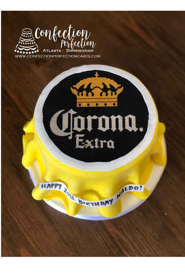 Beer Bottle Cap Cake MB-152