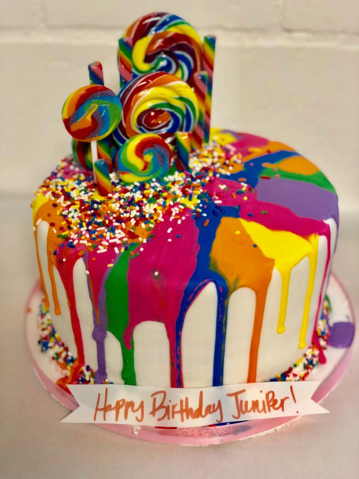 MultiColored Drip Candy Cake CBG145 Custom Cakes Wedding Cakes
