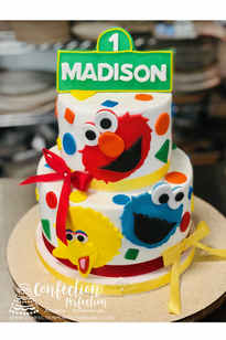 Sesame Street First Birthday Cake BC-149