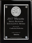 Confection Perfection Cakes 2017 Marietta Small Business Excellence Award