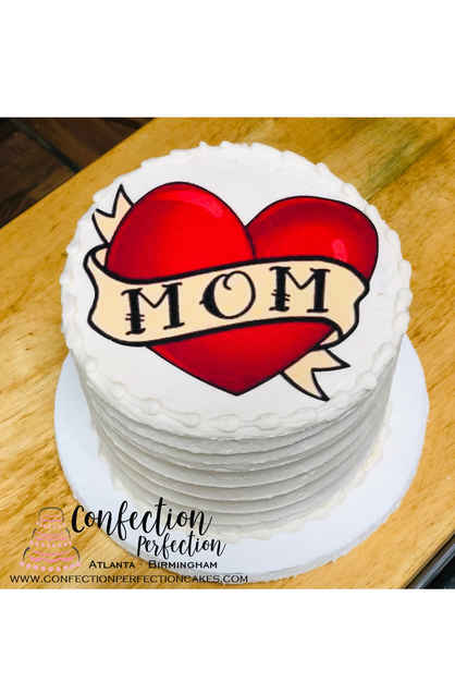 MOM Round Edible Image Cake MD-108