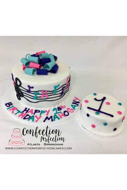 Music Theme First Birthday Cake BC-154