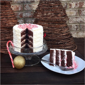 Chocolate Peppermint Holiday Cake HOL-108