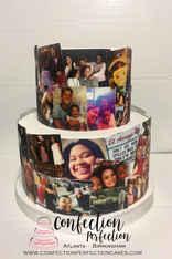 Photo Collage 2 Tier Cake (30 Photos) FB-144
