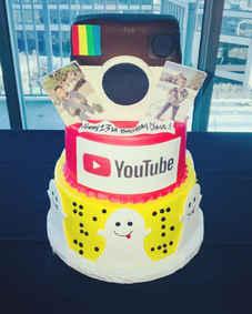 Social Media Birthday Cake CBG-154