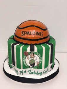 Boston Celtics Basketball Cake CBB-153