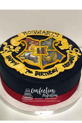 Harry Potter Hogwart's Crest Logo Cake CBB-160