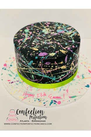 Neon Splatter Cake CBG-205
