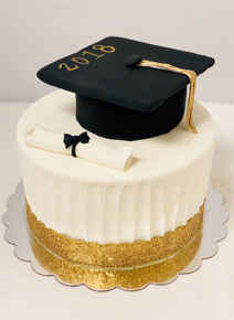 Graduation Cake with Cap and Diploma GR-114