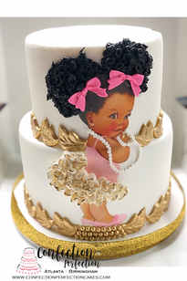 2 Tier Afro Baby Cake BB-125
