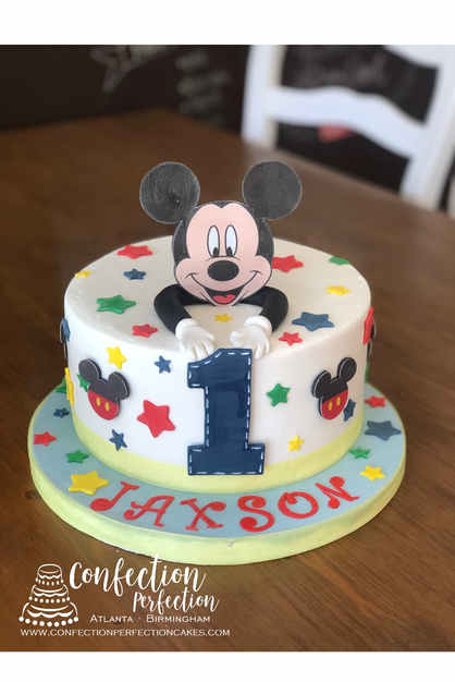 Mickey Mouse First Birthday Cake BC-139