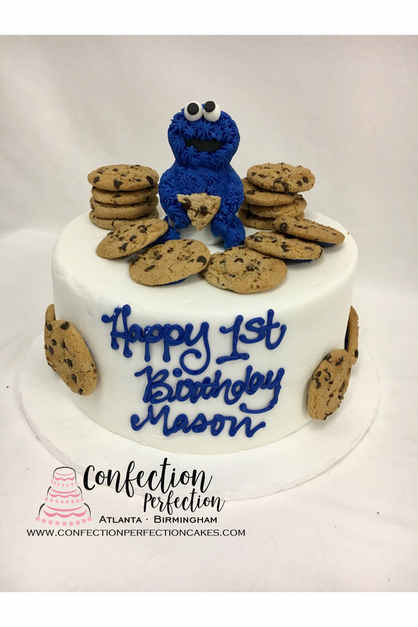 Cookie Monster First Birthday Cake BC-15