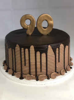 Chocolate Buttercream Comb with Drip  2GO-113