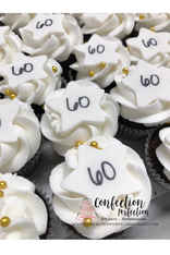 Cupcakes with Stars and Numbers CUP-121