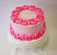2 Toned Pink Rosette Cake CBG-139