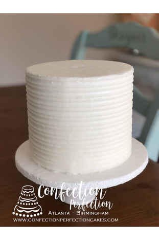Indented Comb Textured Design Buttercream Cake 2GO-117