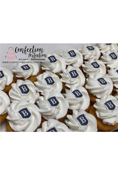 Mini Bite Cupcakes with Edible Image Logo CUP-117