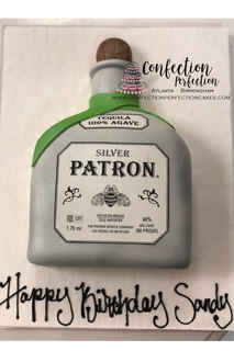 Patron 2D Sculpted Alcohol Bottle MB-145
