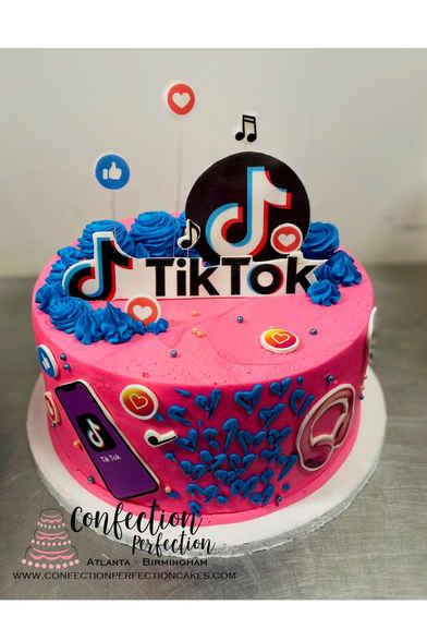 Tik Tok Theme Birthday Cake CBG-226