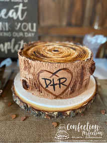 Tree Trunk Groom's Cake