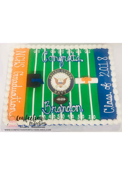 Football Field Graduation Sheet Cake GR-126