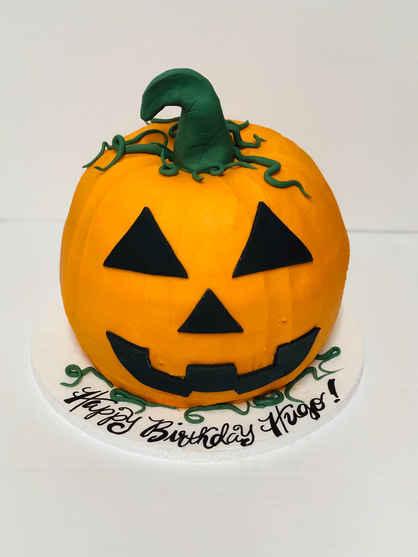 3D Jack-O-Lantern Pumpkin Cake HOL-115