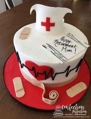 Nursing Retirement Round Cake SO-008