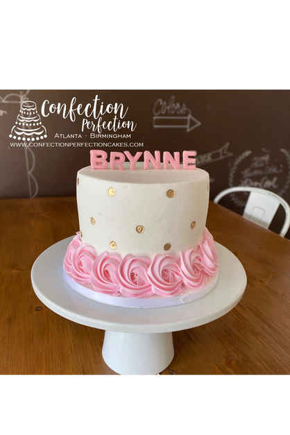 Rosette Name Cake 2GO-111
